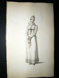 Ackermann 1815 Hand Col Regency Fashion Print. Morning Dress 14-13